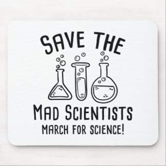Save The Mad Scientists Mouse Pad