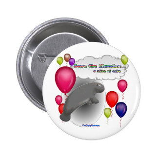 Save the Manatee.. a slice of cake Buttons