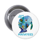 Save The Manatee Button