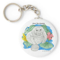 Save The Manatee Keychain