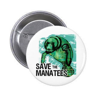 Save the Manatees 2 Inch Round Button