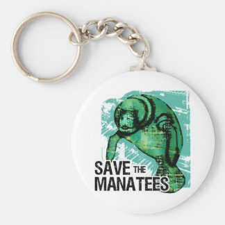 Save the Manatees Basic Round Button Keychain