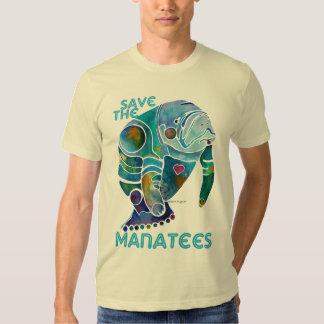 Save the Manatees Blue T Shirt