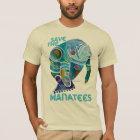 Save the Manatees Blue T-Shirt