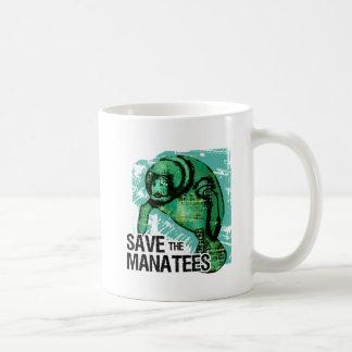 Save the Manatees Classic White Coffee Mug