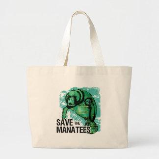 Save the Manatees Jumbo Tote Bag