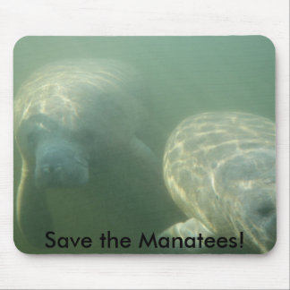 Save the Manatees! Mouse Pad