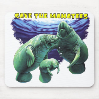 Save the Manatees Mouse Pad