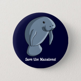 Save the Manatees! Pinback Button