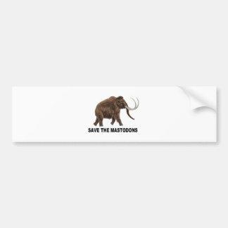 Save the mastodons bumper sticker