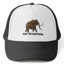 Save the mastodons trucker hat