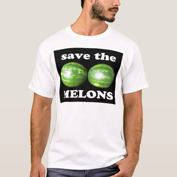 save the melons on black T-Shirt
