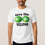 save the melons on white tee shirts