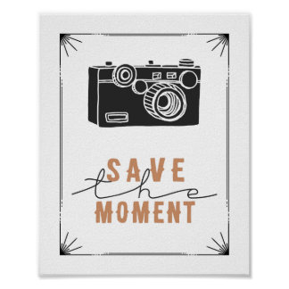 Save The Moment Vintage Camera Print