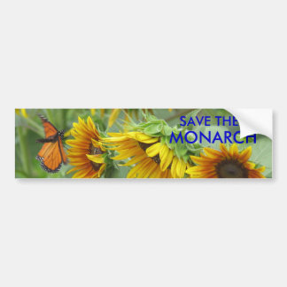 SAVE THE MONARCH BUMPER STICKER