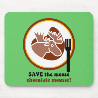 Save the moose mouse pad