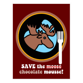 Save the moose post card
