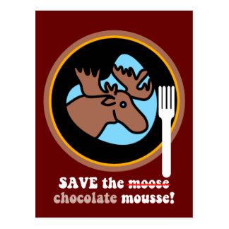 Save the moose postcard