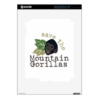 Save The Mountain Gorillas Decal For The iPad 2