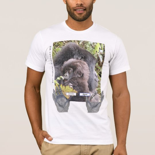 Save the Mountain Gorillas (front & back design) T-Shirt
