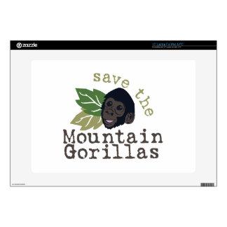 Save The Mountain Gorillas Laptop Decal