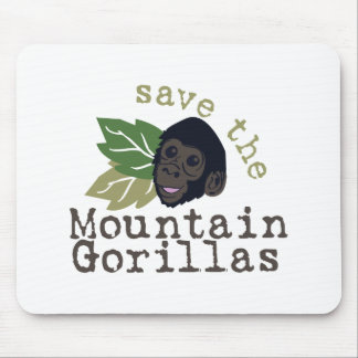 Save The Mountain Gorillas Mouse Pad