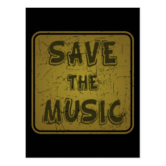 Save The Music Postcard