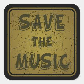 Save The Music Square Sticker