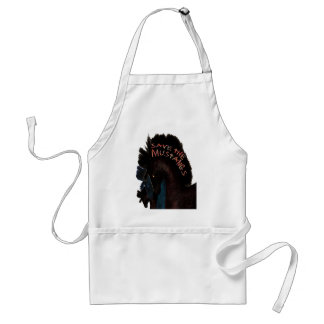 Save the Mustangs Adult Apron