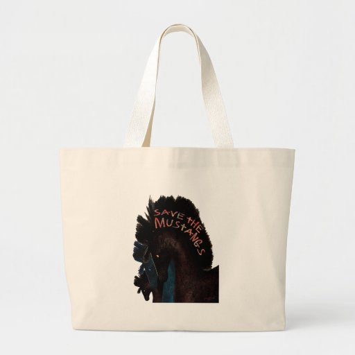 Save the Mustangs Canvas Bags
