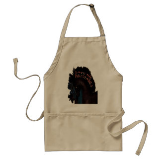 Save the Mustangs Gifts and Greetings Adult Apron