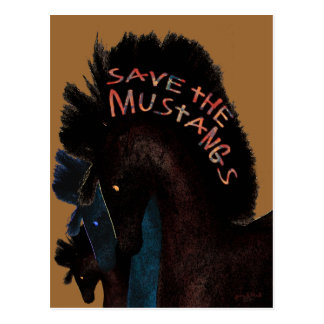 Save the Mustangs Gifts and Greetings Postcard