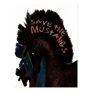 Save the Mustangs Postcard