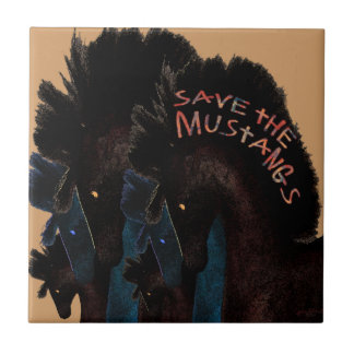 Save the Mustangs Tile