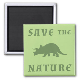 Save The Nature Triceratops Magnet