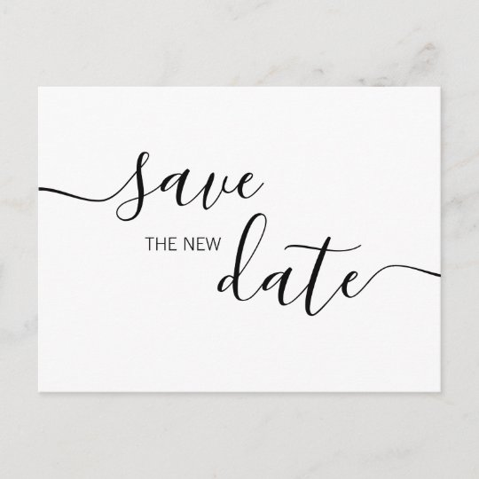 Save the New Date Social Disancing Save the Date Announcement Postcard