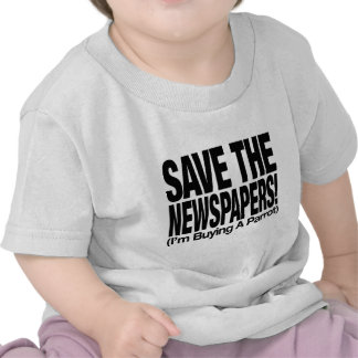 save_the_newspapers_parrot_t camiseta