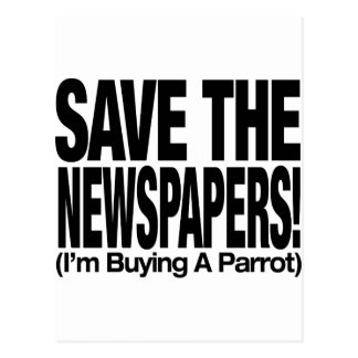 save_the_newspapers_parrot_t postal