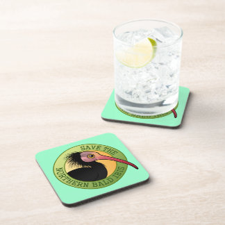 Save the Northern Bald Ibis Beverage Coaster