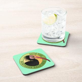 Save the Northern Bald Ibis Beverage Coaster