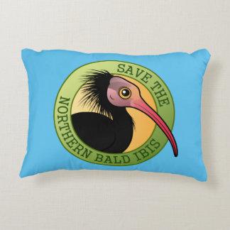 Save the Northern Bald Ibis Decorative Pillow