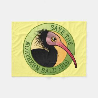 Save the Northern Bald Ibis Fleece Blanket
