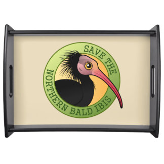 Save the Northern Bald Ibis Serving Tray