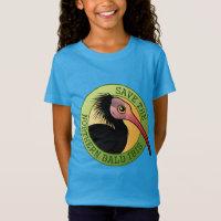 Save the Northern Bald Ibis Girls' Fine Jersey T-Shirt