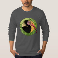 Save the Northern Bald Ibis Men's American Apparel Fine Jersey Long Sleeve T-Shirt