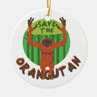 Save the Orangutan Ceramic Ornament