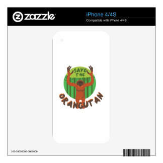 Save the Orangutan Decal For The iPhone 4