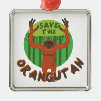 Save the Orangutan Metal Ornament