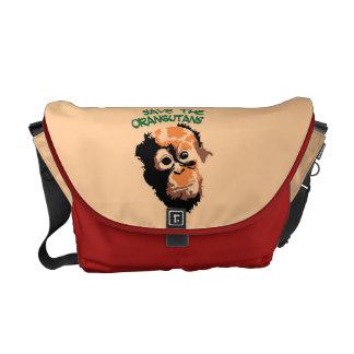 Save the Orangutans Messenger Bag