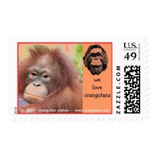 Save the Orangutans of Borneo and Sumatra Postage
